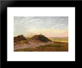 Jutlandic Heath Landscape: Modern Black Framed Art Print by Theodor Philipsen