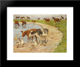 The Large Reservoir, Saltholm: Modern Black Framed Art Print by Theodor Philipsen