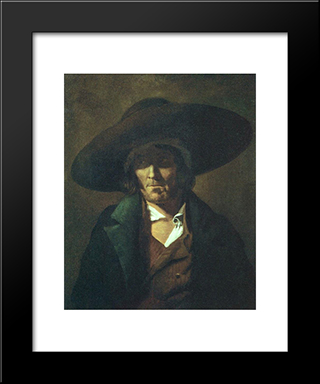 A Man: Modern Black Framed Art Print by Theodore Gericault