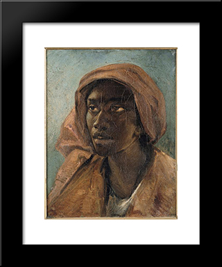 A Young Negro Woman: Modern Black Framed Art Print by Theodore Gericault