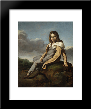 Alfred Dedreux As A Child: Modern Black Framed Art Print by Theodore Gericault
