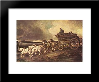 Coal Cars: Modern Black Framed Art Print by Theodore Gericault