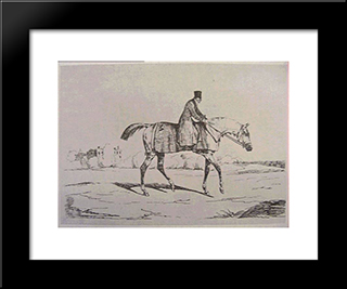 English Jockey: Modern Black Framed Art Print by Theodore Gericault