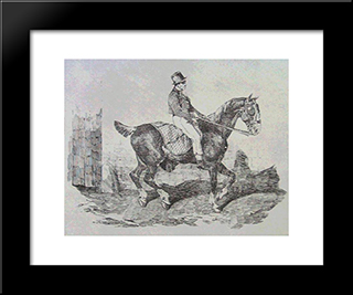 Horse Carriage: Custom Black Wood Framed Art Print by Theodore Gericault