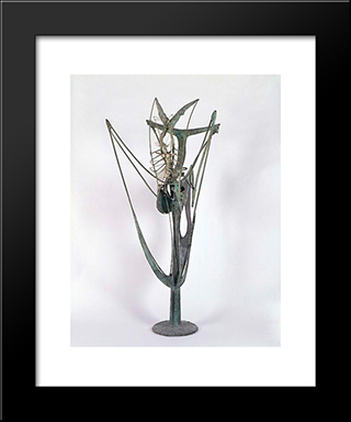 Insect Plant: Modern Black Framed Art Print by Theodore Roszak