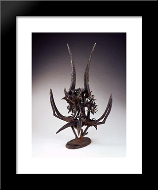 Thistle In The Dream (To Louis Sullivan): Modern Black Framed Art Print by Theodore Roszak