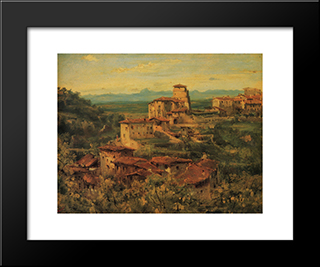 A Town Thiers: Modern Black Framed Art Print by Theodore Rousseau