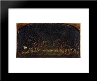 Alley Chestnut From The Castle Shoes: Custom Black Wood Framed Art Print by Theodore Rousseau