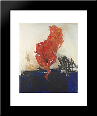 Home Of The Sun: Modern Black Framed Art Print by Theodoros Stamos