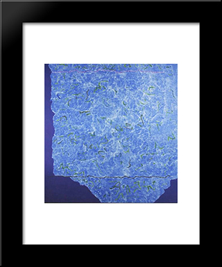 Infinity Field, Jerusalem Series, 3Rd Letter: Modern Black Framed Art Print by Theodoros Stamos