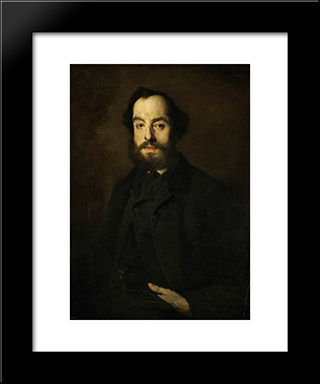 Jules Luquet: Modern Black Framed Art Print by Theodule Ribot