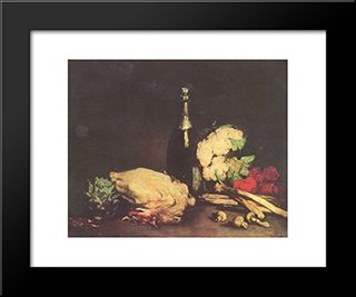 Stilleben: Modern Black Framed Art Print by Theodule Ribot