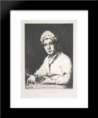 The Cook'S Recipe: Modern Black Framed Art Print by Theodule Ribot