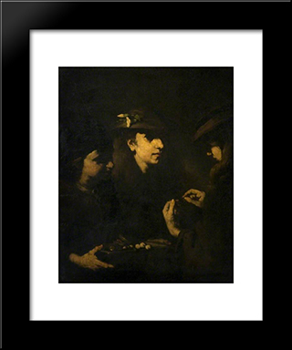 The Rosary: Modern Black Framed Art Print by Theodule Ribot