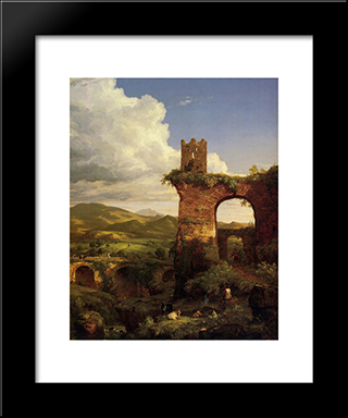Arch Of Nero: Modern Black Framed Art Print by Thomas Cole