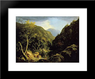 Autumn In The Catskills: Modern Black Framed Art Print by Thomas Cole