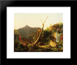Autumn Landscape (Mount Chocorua): Modern Black Framed Art Print by Thomas Cole