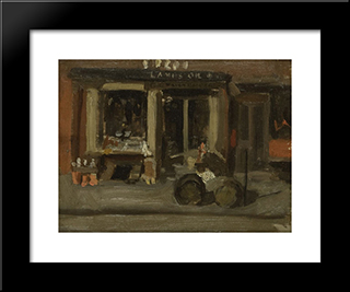 A Street Scene: Modern Black Framed Art Print by Thomas Eakins
