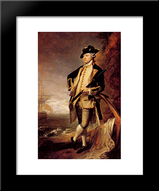 Augustus John, Third Earl Of Briston: Modern Black Framed Art Print by Thomas Gainsborough