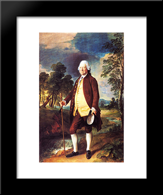 Benjamin Truman: Modern Black Framed Art Print by Thomas Gainsborough