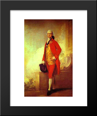Captain William Wade: Modern Black Framed Art Print by Thomas Gainsborough