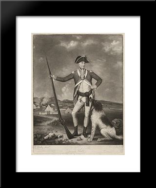 Sir Richard Whitworth In Camp At Winchester: Modern Black Framed Art Print by Thomas Hardy