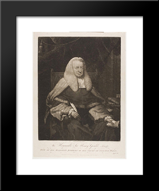 The Honorable Sir Henry Gould: Modern Black Framed Art Print by Thomas Hardy
