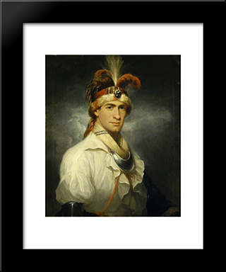 William Augustus Bowles: Modern Black Framed Art Print by Thomas Hardy
