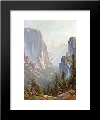 Early Morning, Yosemite Valley: Modern Black Framed Art Print by Thomas Hill