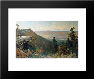 Hudson River Valley From The Catskill Mountain House: Modern Black Framed Art Print by Thomas Hill