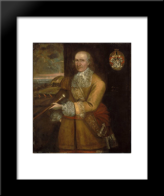Portrait Of Major Thomas Savage: Modern Black Framed Art Print by Thomas Smith