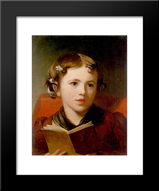 A Young Girl: Modern Black Framed Art Print by Thomas Sully
