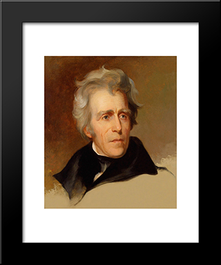 Andrew Jackson: Modern Black Framed Art Print by Thomas Sully