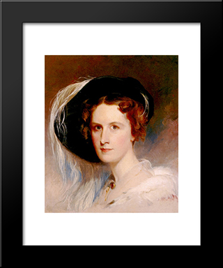 Ann Biddle Hopkinson: Modern Black Framed Art Print by Thomas Sully