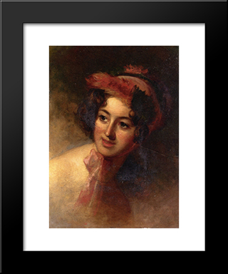 Blanche Sully: Modern Black Framed Art Print by Thomas Sully
