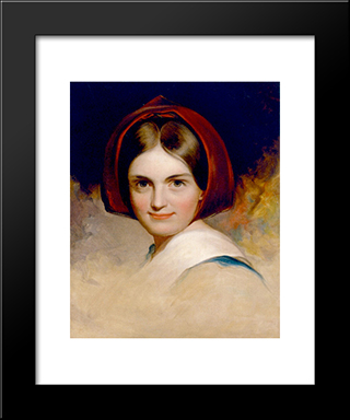 Charlotte Cushman: Modern Black Framed Art Print by Thomas Sully