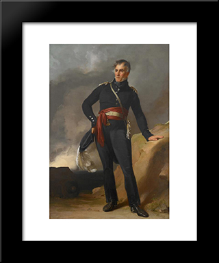 Colonel Samuel Boyer Davis: Modern Black Framed Art Print by Thomas Sully