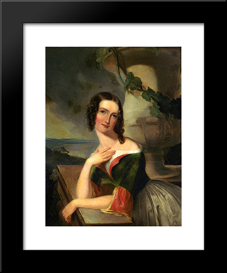 Elizabeth Wharton (Mrs. William J. Mccluney): Modern Black Framed Art Print by Thomas Sully
