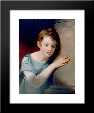 Elizabeth Wignell: Modern Black Framed Art Print by Thomas Sully