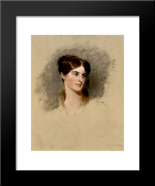 Fanny Kemble: Modern Black Framed Art Print by Thomas Sully