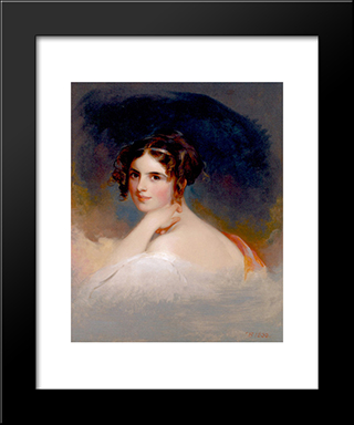 Frances Anne Kemble As Beatrice: Modern Black Framed Art Print by Thomas Sully