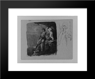 From Sketchbook: Modern Black Framed Art Print by Thomas Sully