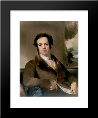 George Ticknor: Modern Black Framed Art Print by Thomas Sully