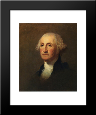 George Washington: Modern Black Framed Art Print by Thomas Sully