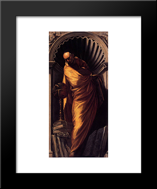 A Philosopher: Modern Black Framed Art Print by Tintoretto