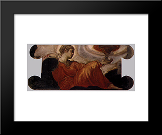 Allegory Of Faith: Modern Black Framed Art Print by Tintoretto