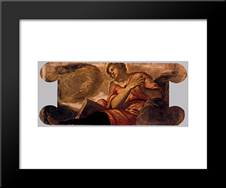 Allegory Of Goodness: Modern Black Framed Art Print by Tintoretto