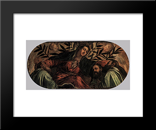 Allegory Of The Scuola Della Misericordia: Modern Black Framed Art Print by Tintoretto
