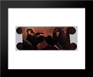 Allegory Of The Scuola Di San Giovanni Evangelista: Modern Black Framed Art Print by Tintoretto
