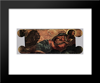 Allegory Of The Scuola Di San Marco: Modern Black Framed Art Print by Tintoretto
